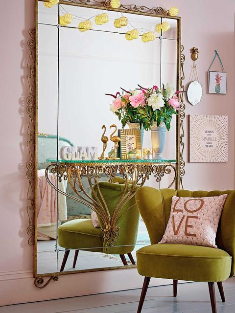 Yellow, Interior design, Room, Furniture, Chair, Interior design, Creative arts, Flower Arranging, Vase, Floral design,