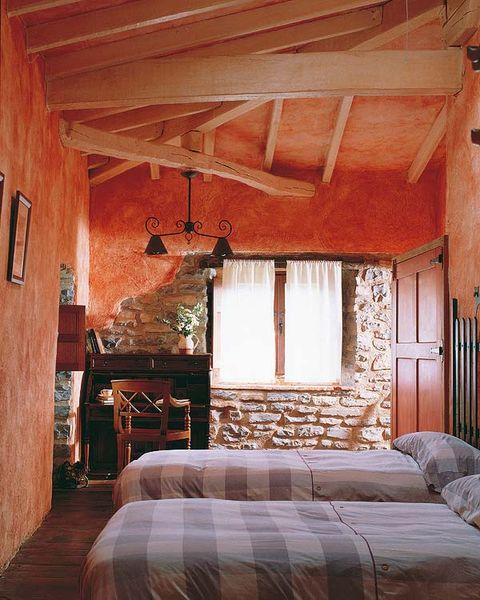 Wood, Bed, Room, Hardwood, Interior design, Textile, Bedding, Wood stain, Bedroom, Floor,