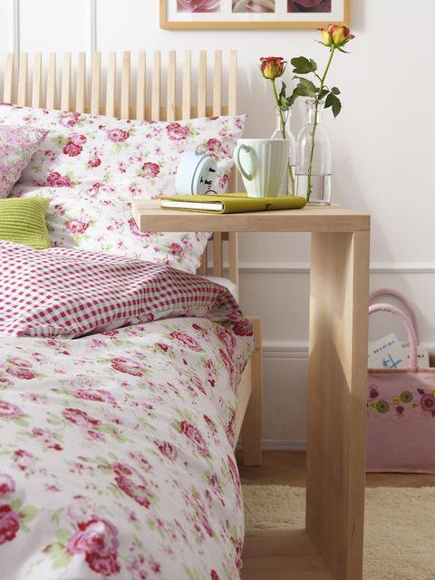Room, Textile, Interior design, Furniture, Bed, Pink, Linens, Bedding, Bedroom, Interior design,