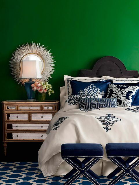 Blue, Room, Chest of drawers, Drawer, Linens, Bedroom, Cabinetry, Bedding, Bed sheet, Lamp,