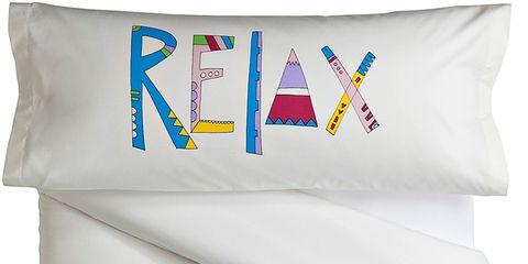 Product, Textile, White, Font, Linens, Cushion, Symbol, Graphics, Pillow, Throw pillow,