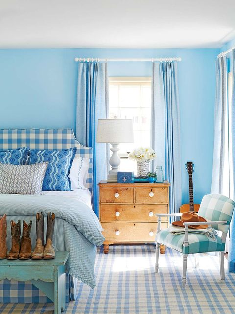 Blue, Room, Interior design, Drawer, Textile, Floor, Chest of drawers, Furniture, Home, Flooring,