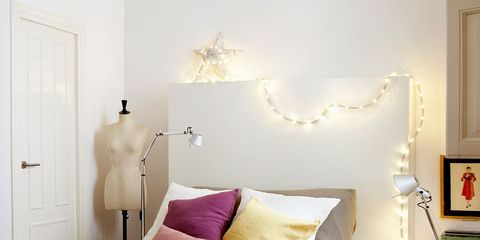 Lighting, Room, Interior design, Floor, Bed, Bedding, Wall, Textile, Bedroom, Flooring,
