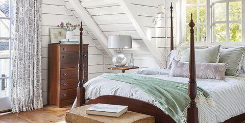 Bedroom, Furniture, Bed, Room, Bed frame, Property, Ceiling, Interior design, Canopy bed, Bedding,