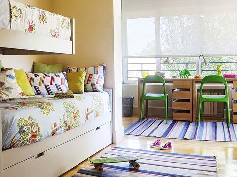 Room, Interior design, Floor, Flooring, Wall, Home, Interior design, Chair, Linens, Hardwood,