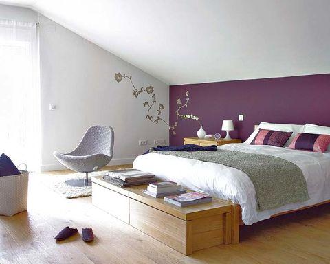 Wood, Bed, Room, Floor, Interior design, Flooring, Property, Wall, Textile, Bedding,
