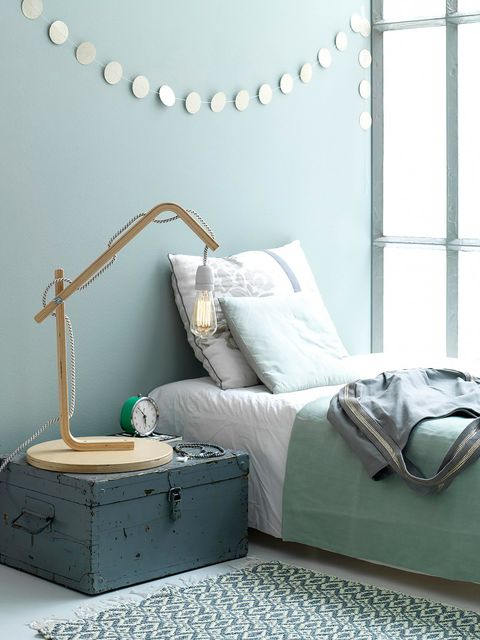 Room, Textile, Interior design, White, Furniture, Wall, Teal, Pillow, Home, Turquoise,