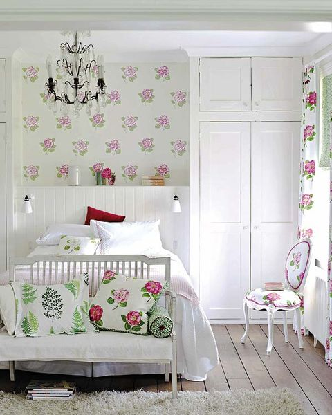 Product, Room, Interior design, Green, Textile, Pink, Furniture, Wall, Linens, Bedding,