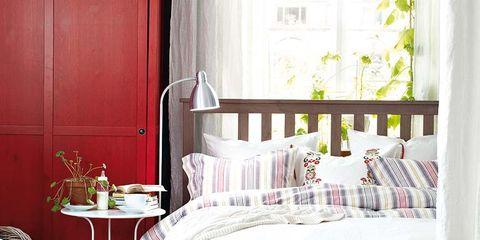 Room, Interior design, Linens, Home, Home accessories, Door, Basket, Interior design, Bedding, Wicker,