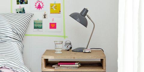 Lamp, Interior design, Office equipment, Linens, Office supplies, Bedroom, Bedding, Bed sheet, Pillow, Curtain,