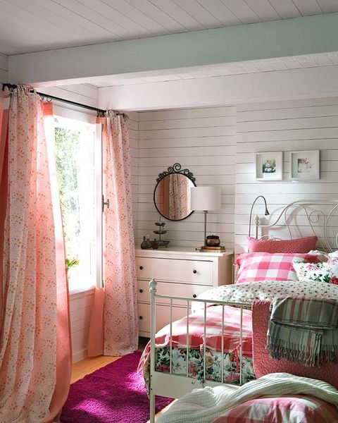 Interior design, Room, Floor, Textile, Home, Ceiling, Wall, Pink, Chest of drawers, House,