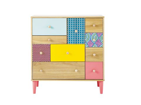 Chest of drawers, Product, Wood, Drawer, Cabinetry, Rectangle, Magenta, Dresser, Tan, Beige,