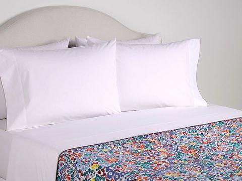 Blue, Textile, Room, Interior design, Wall, Linens, Pillow, Cushion, Teal, Azure,