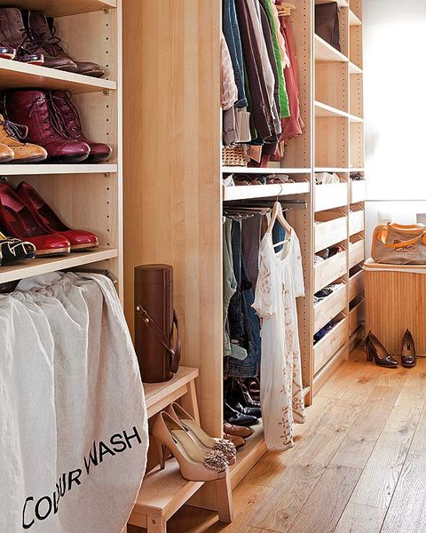 Room, Wood, Shelf, Shelving, Closet, Furniture, Clothes hanger, Fashion, Wood flooring, Hardwood,