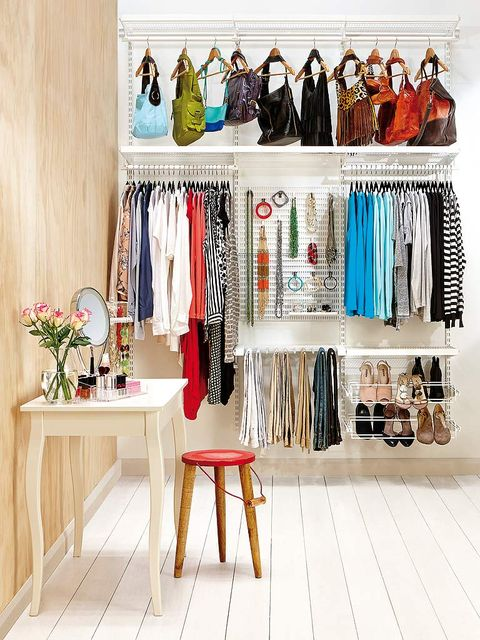 Room, Clothes hanger, Fashion, Collection, Shelving, Retail, Fashion design, Plywood, Stool, Market,