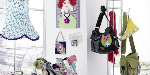 Pink, Room, Furniture, Shelf, Interior design, Design, Material property, Table, Shelving, Magenta,