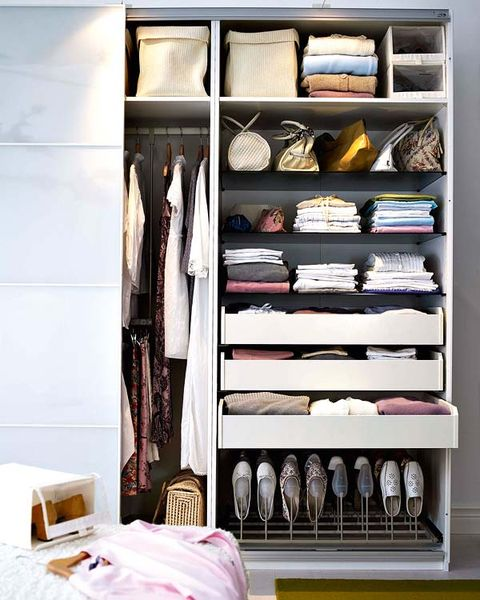 Room, Closet, Wardrobe, Shelving, Shelf, Collection, Clothes hanger, Linens, Retail, Shoe organizer,