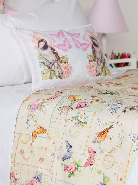 Textile, Interior design, Room, Pink, Linens, Bedding, Cushion, Bedroom, Bed sheet, Aqua,