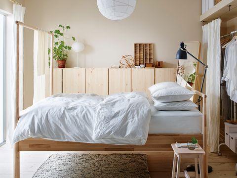 Bedroom, Furniture, Bed, Room, Bed sheet, Bed frame, Property, Bedding, Wall, Interior design,