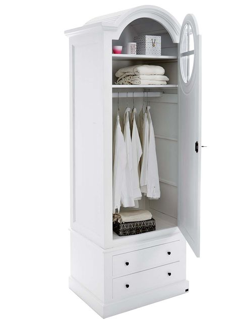 White, Wardrobe, Furniture, Drawer, Cupboard, Room, Clothes hanger, Chest of drawers, Closet, Shelf,
