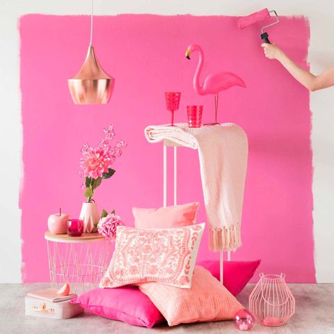Pink, Product, Room, Furniture, Magenta, Interior design, Wallpaper, Peach,