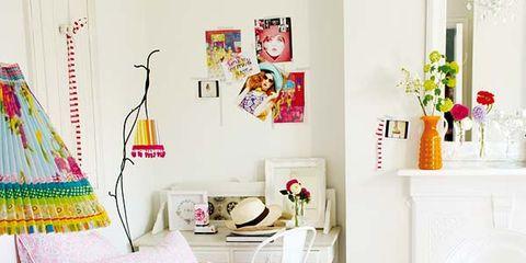 Room, Interior design, Textile, Pink, Furniture, Linens, Magenta, Bedroom, Home, Bedding,