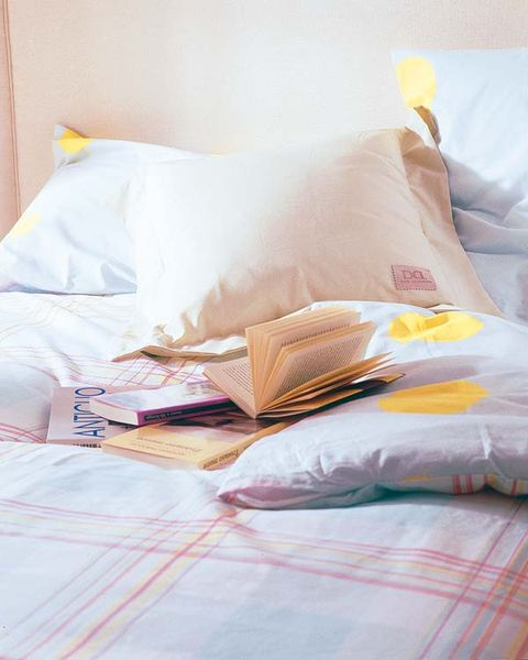 Yellow, Textile, Bedding, Linens, Bed sheet, Cushion, Bedroom, Home accessories, Pillow, Blanket,
