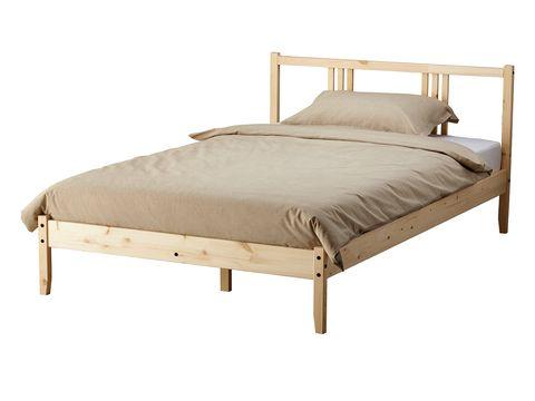 Wood, Product, Brown, Bed, Textile, Bed frame, Furniture, Linens, Bedding, Bedroom,