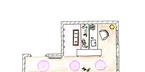 Pink, Magenta, Line, Rectangle, Parallel, Diagram, Drawing, Circle, Illustration, Plan,