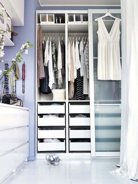 Room, Floor, Clothes hanger, Shelving, Shelf, Closet, Grey, Cabinetry, Wardrobe, Drawer,