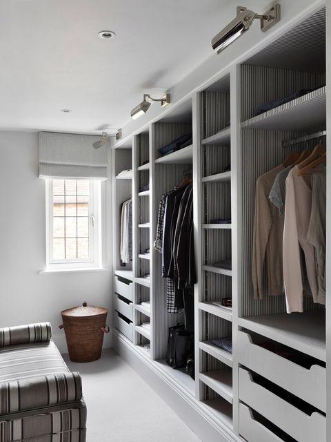 Room, Furniture, Closet, Interior design, Shelf, Wardrobe, Building, Cupboard, Shelving, Ceiling,