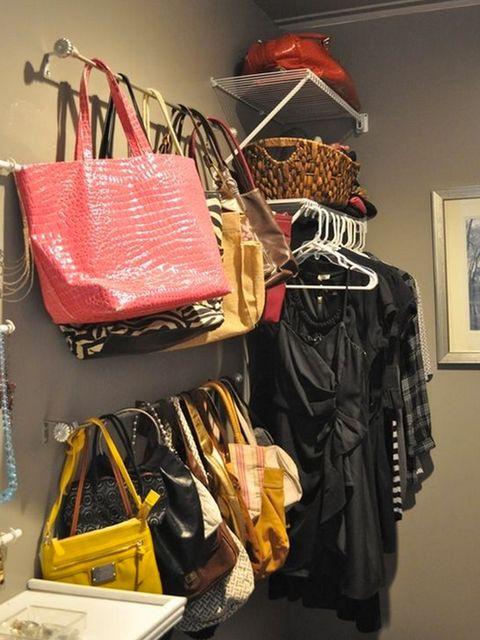 ideas de almacenamiento de mochila para el hogar 22 Ideas Para Organizar Los Bolsos Orden En Casa