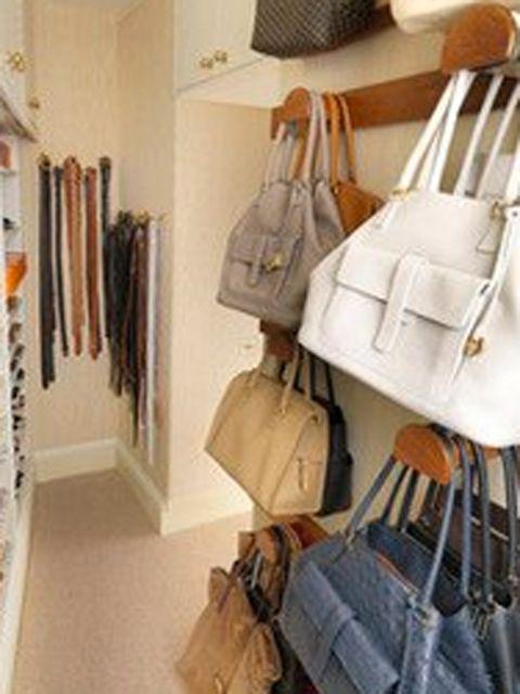 22 ideas para organizar los bolsos - Como guardar los bolsos ordenados ...