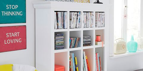Room, Interior design, Shelving, Furniture, Shelf, Wall, Publication, Bookcase, Collection, Interior design,