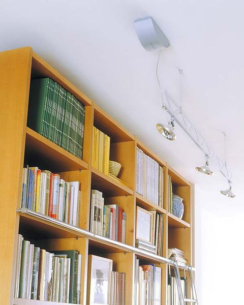 Wood, Shelf, Room, Shelving, Bookcase, Wall, Publication, Ceiling, Interior design, Light fixture,