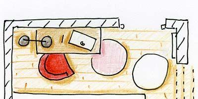 Line, Rectangle, Illustration, Drawing, Artwork, Painting, Graphics, Toilet, Child art, Clip art,