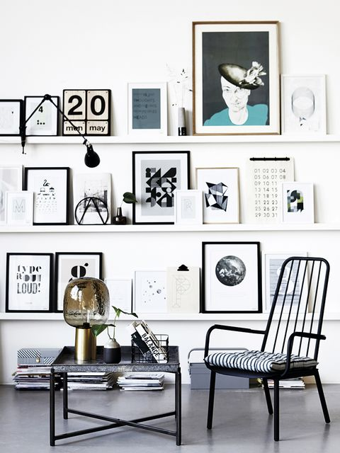 Room, Interior design, White, Furniture, Style, Picture frame, Chair, Interior design, Lamp, Collection,