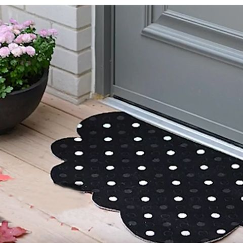 Flowerpot, Pattern, Polka dot, Fixture, Purple, Houseplant, Composite material, Daylighting, Design, Circle,