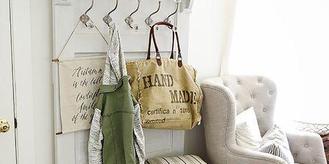 Room, Flooring, Floor, Interior design, Clothes hanger, Grey, Beige, Door, Interior design, Home,