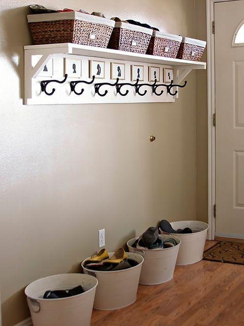 Wall, Door, Bucket, Home door, Wood stain, Paint, Wood flooring, Waste container, Paper,