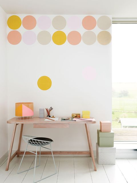Yellow, Room, Interior design, Orange, Wall, Table, Furniture, Peach, Floor, Interior design,
