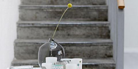 White, Table, Serveware, Grey, Fruit, Still life photography, Dishware, Cup, Mug, Kitchen utensil,