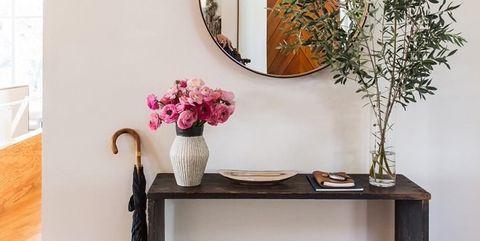 Shelf, Furniture, Table, Room, Interior design, Shelving, Wall, Iron, Wood, Plant,