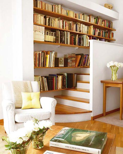 Room, Interior design, Wood, Shelf, Shelving, Furniture, Publication, Bookcase, Interior design, Wall,