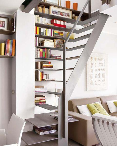 Room, Interior design, Shelving, Shelf, Wall, Bookcase, Floor, Publication, Interior design, Home,