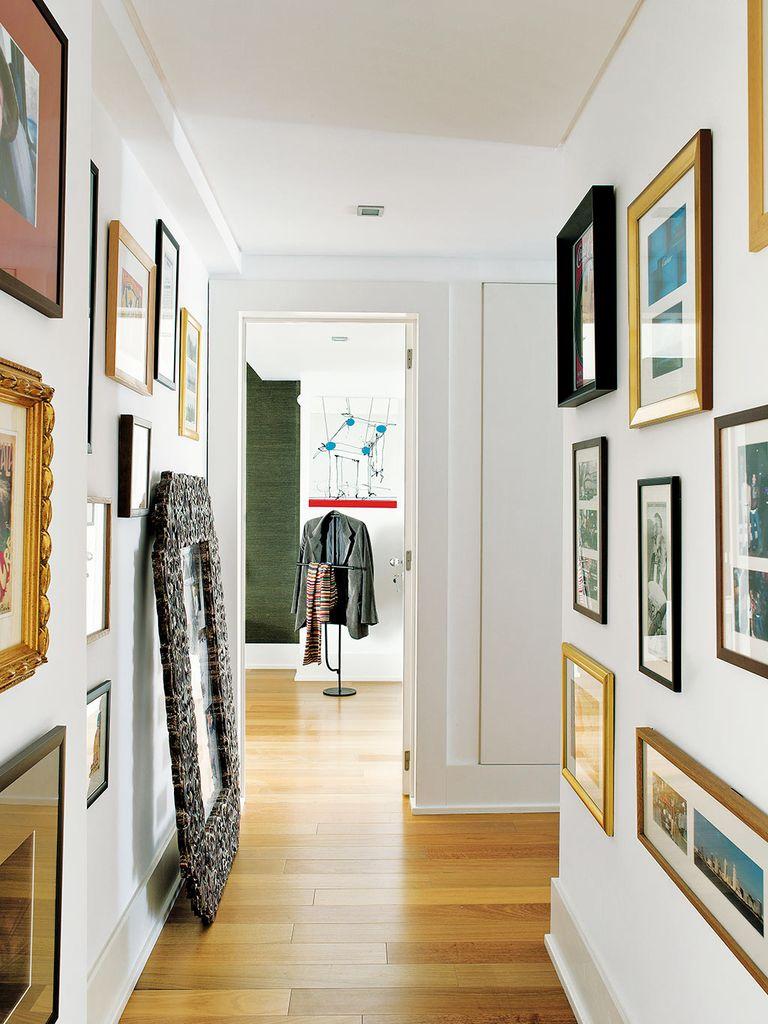 17 formas de disimular un pasillo largo y estrecho - Mueble pasillo estrecho ...