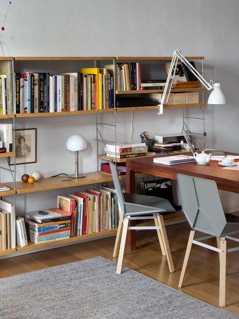 Shelf, Wood, Room, Shelving, Bookcase, Furniture, Publication, Interior design, Table, Floor,