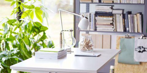 Green, Table, Furniture, Teal, Shelving, Shelf, Desk, Bookcase, Rectangle, Writing desk,