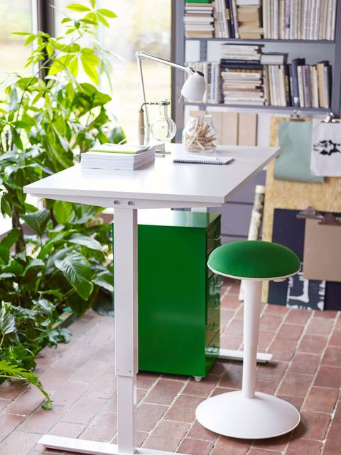 Green, Table, Room, Interior design, Furniture, Shelving, Shelf, Teal, Bookcase, Desk,
