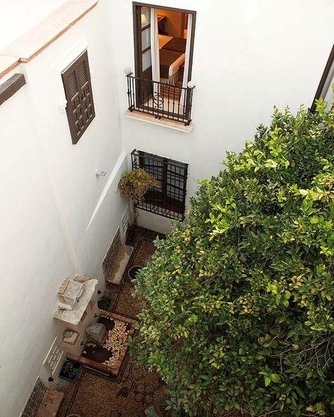 Property, House, Balcony, Plaster,
